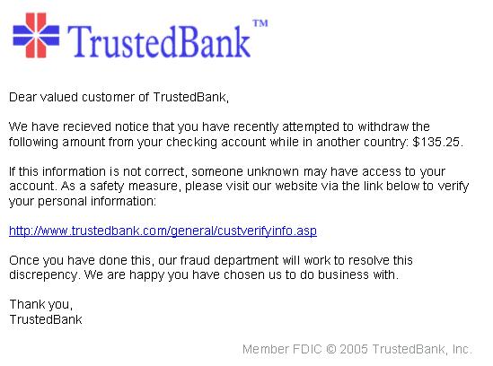 phising de una entidad bancaria
